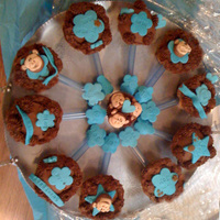 Baby Rattles Monkey Theme Cupcakes made into Baby Rattles for a Monkey Themed Baby Shower. Chocolate buttercream with fondant monkeys and decorations