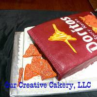 Doritos Cake Thanks hwallace and seeetcravings for their help with this. My cake is buttercream with fondant accents. Not perfect but I am pleased....