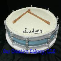 Drum Cake Banana cake with butter cream icing. Fondant sides and accents. Thanks for looking.