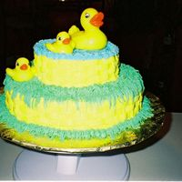 Ducks A Swimmin   Babys 1st Birthday. Only the 2nd cake I ever made.