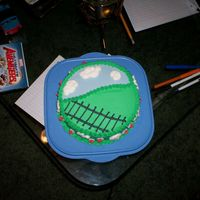 Train Track Cake I decorated this cake for a family members birthday. Thomas the train was later added to it.