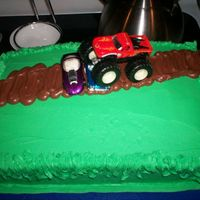 Monster Truck Cake I decorated this cake for my nephew for his birthday. He is a very big monster truck fan.