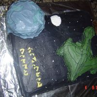 Star Trek Birthday This Cake was made for my father-in-law, a major Star Trek Fan. The cake is actually a Romulin War bird. With Romulus home world in the...