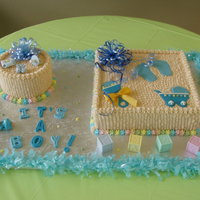 Boy Baby Shower Vanilla Cake and buttercream. Thanks for looking.