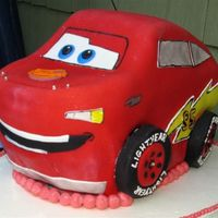 "Lightening Mcqueen This was for my son's 3rd birthday. Many thanks to Natalia - ""How to Cakes"" - where I found the directions on how to make..."