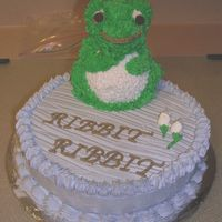 Frog.jpg Frog cake made just for fun to try out new 3d pan