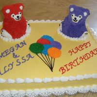 Teddy Bear Birthday This was the cake for my daughter and friend's birthdays.