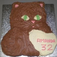 Cat Birthday Cake   Made by me for me for when everyone was together to enjoy a slice of cake for my birthday
