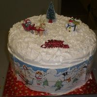 Our Christmas Cake (2007) Simple but lovely (well I think it was lovely lol)