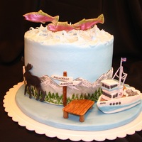 Alaska Native This was for an Alaskan native. It has the typical wildlife of Copper River salmon, moose, grizzly and polar bears, a fishing boat that...