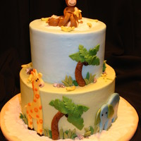 More Monkeys The design for this baby shower cake matched the invitations. I love making these types of cakes. The gumpaste pieces are so much fun! The...