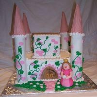 My First Castle!!! b/c with fondant accents.