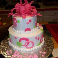 Birthday b/c with fondant accents.