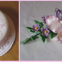 "Happy 18Th Birthday! 10"" 3 layers cake, covered with fondant and decorated with gum paste flowers"