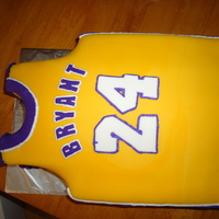 Kobe Bryant Jersey Fondant. and frosting details