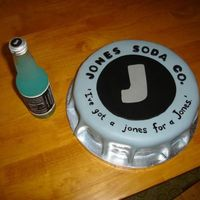 Jones Bottle Cap Fondant. Made for a friend who was celebrating her twins' 1st birthday. Their last name is Jones. Awesome theme.