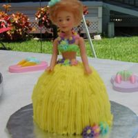 Hula Girl Hula Girl cake made for my daughters 5th birthday