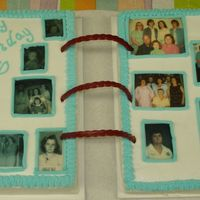70Th Birthday Photo Album I did this for my mother's 70th Birthday. One side is chocolate and one side is white. I got the idea from this site, but don't...