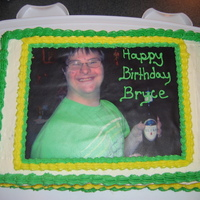 Edible Image Cake brother in-laws birthday, picture from trip to NYC