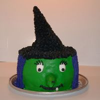Witch On A Platter  I did this cake for my son's Fall Festival at school. They loved it! Pound cake with bc. Hat and nose are waffle cones. This is the...