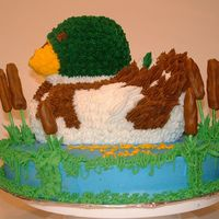 Duck Birthday Cake  I made this cake for my neighbors 30th bday. He is an avid hunter and the party was held at The Bass Pro Shop's Islamorada Fish...