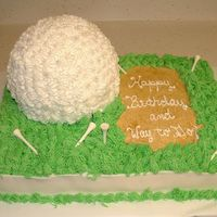 Golf Groom's / Birthday Cake It was the groom's birthday so the bride wanted something cute for him. He loved it. Thanks to mccoy1113 for the great idea. (Mine...