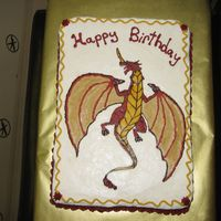 Bakugan Drago I made this cake for my son, using the frozen buttercream transfer method. I actually freehand sketched the dragon because I couldn't...