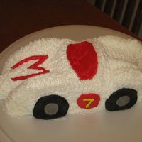 Speed Racer I made this cake for my son's seventh birthday. I carved the cake and decorated it with buttercream icing. He loved it, even though...