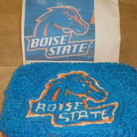 Bsu Cake I made this cake for my husband's BSU (Boise State University) watching party. It's all buttercream (obviously) and was done semi...