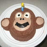 "1St B-Day Smash Cake For My Nephew. Made this smash cake for my nephew Max's 1st birthday party. I used 2 cupcakes, half a ball pan and carved a piece from a 6"" pan..."