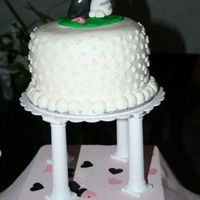 "Wedding Cake And Cupcakes Made this for my sisters wedding, plus 250 cupcakes. It was a 6"" carrot cake with super sweet frosting, I can't remember what it..."