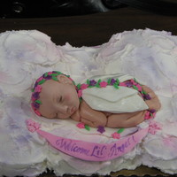Lil Angel Sleepin On A Cloud  I made this for my duaghters teachers baby shower. My daughter picked the theme and i tried to do it. I spent lots of time molding that...