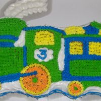 Train Cake Did this one for my son. First time I had ever done character/shaped pan like that. Not my best, but not bad, at least i dont think so! :)...