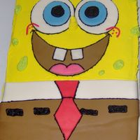 Sponge Bob Birthday First cake that I actually sold! Just sold it for the price of the supplies :)Fondant and BC