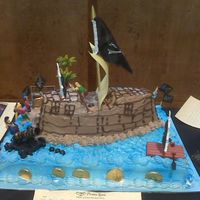 Pirate Cake For Carribean Gala  First time for this cake. The Nordiacware Pirate Cake Pan is great!!! I highly recommend adding it to your cake pan collection. This cake...