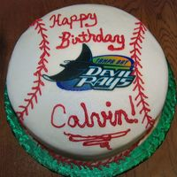 Baseball Birthday Cake. Got a request to make a baseball type cake - and the customer wanted the cake to look homemade. Aside from the edible image, I guess it&#...
