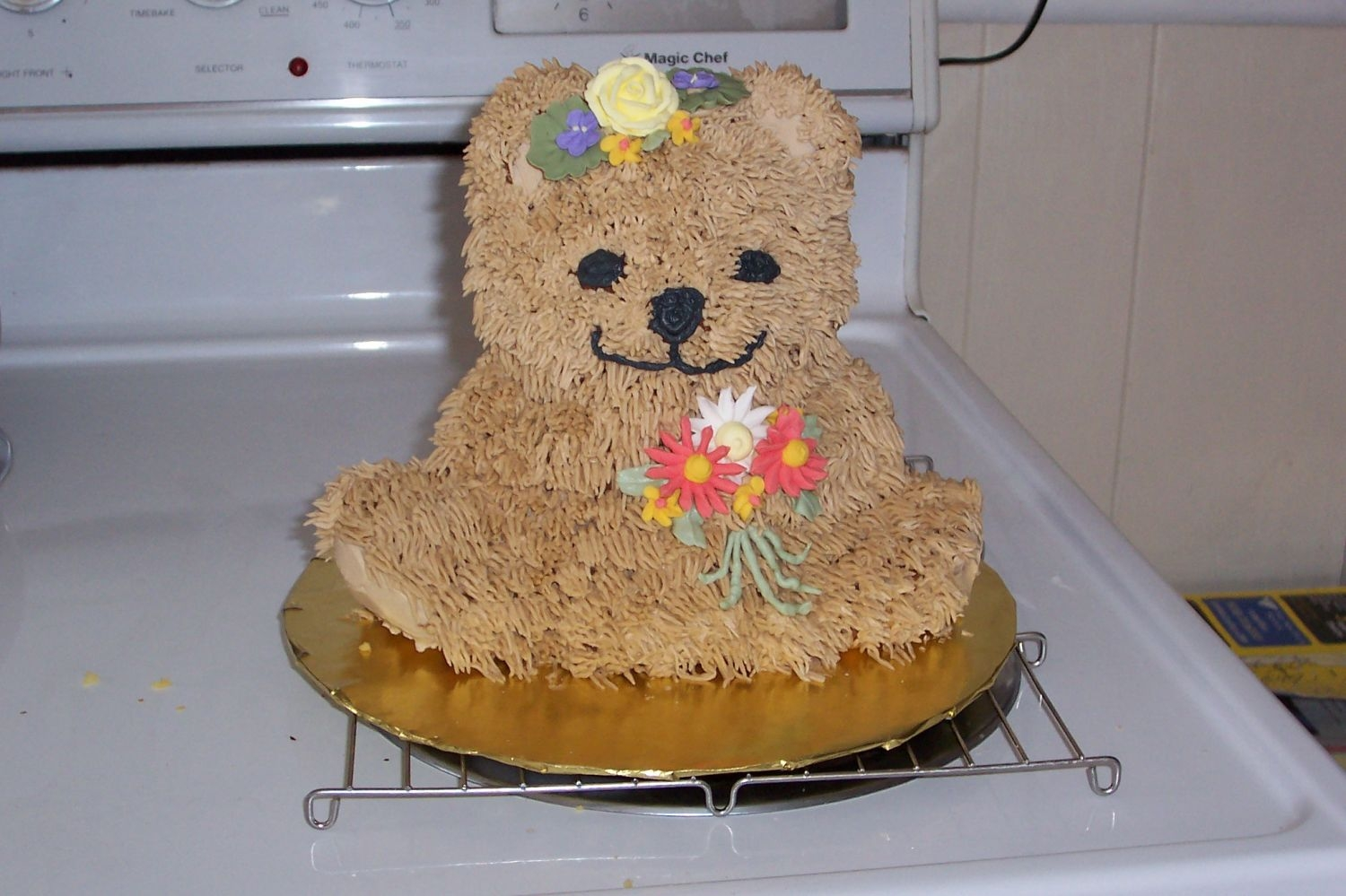 Beary Nice Mom's Day!   What fun to treat my mom to a bear cake, especially since she collects them! Thanks for looking!