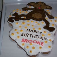 "Cupcake Monkey Cake  This is my first attempt at a cupcake cake, wonder if it will break apart easily for the teacher?? I basically had no ""plan"" for..."