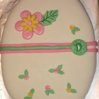 "Easter Egg Cakes Covered in MF, all decorations in MF. Made it for my son's schools ""Spring Festival""."