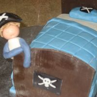 Dreaming Pirate Boy My son's 5th birthday cake. Honestly I don't like it, I'm not really impressed with myself this time, lol. Uses home-made MF...