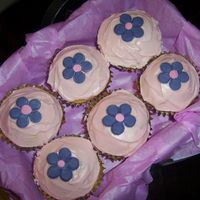 Flower Cupcakes I made these for my nieces first birthday... They weren't the actual birthday cake but I thought i would post them up anyways =)...