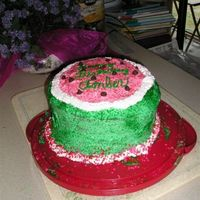 Watermelon Cake This cake was inspired by my sister, who loves watermelon. I used it as a birthday cake but I think it would make a great 4th of July cake...