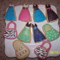 Fashionista Cookies Just playing around with some leftover sugar cookie dough. Thought they turned out very cute...