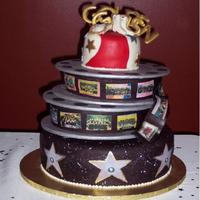 Hollywood Themed Banquet Cake This is the cake I made for my daughter's drill team banquet. We did a red-carpet/Hollywood theme, and this is the design I came up...