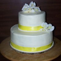 Orchid Wedding Cake My 3rd official wedding cake. All buttercream with fresh orchids.