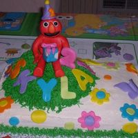 Springtime Elmo ELMObuttercream and mmfmy 5th cake.