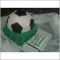 Soccer Baby Shower Cake SOCCER BABY SHOWER CAKE