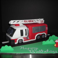 Firetruck Cake Firetruck cake for 5 year old future firefighter. He loved it!