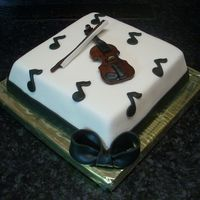 Violin chocolate fudge cake with white chocolate cream cheese frosting. ordered for a lady violinist who's part of an orchestra. the best...