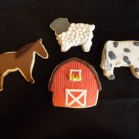 Down On The Farm NFSC with fondant...just trying out some new cookie cutters
